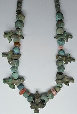 Bronze Beads Ram Deer Heads / Cornelian Koban Scythian 1100-600BC.