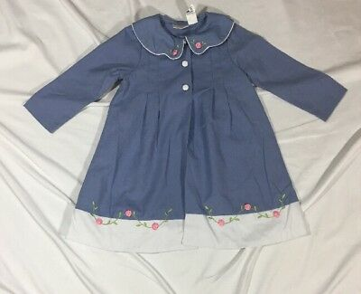 Toddler Girls Little Billy Spring Over Coat Dressy 4t Blue