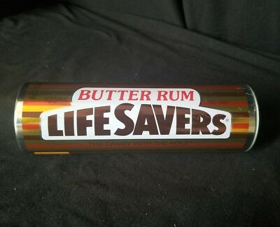"7"" Life Savers Butter Rum Candy Collector's Tin Decorative Piece W/O Candy"