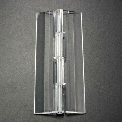 10pcs Clear Acrylic Plastic Folding Drawer Cabinets Door Butt Hinges Multi-Size