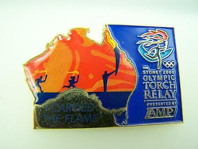Pin back badge Sydney Olympic games 2000 'I carried the flame' torch relay  1698