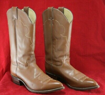b0146115f9683 VINTAGE JUSTIN MEN'S Cowboy Boots Brown Leather Western Riding Size 10 D -  O1