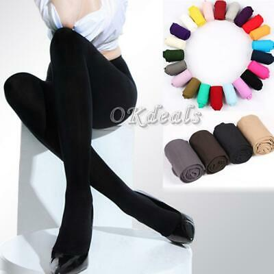8 Colors Women's Spring Autumn Footed Thick Opaque Stockings Pantyhose Tights US