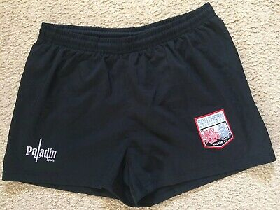 Southern Districts Rugby Union Shorts- Black Polyester - Paladin - Mens 34 VGC