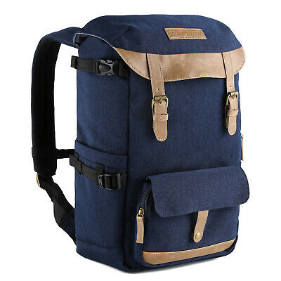 K&F Concept Large Capacity Camera Backpack Bag Waterproof Free Rain Cover Canon