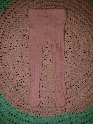 Milky Baby Pink Ribbed Tights XXS (0-6M)