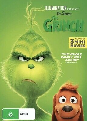 The Grinch Dvd Dr Seuss 2018 New & Sealed- Free Postage! Region 4