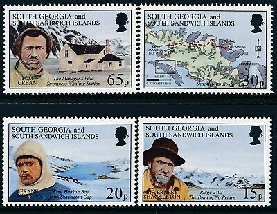 1996 South Georgia Shackleton's Expeditions Set Of 4 Fine Mint Mnh