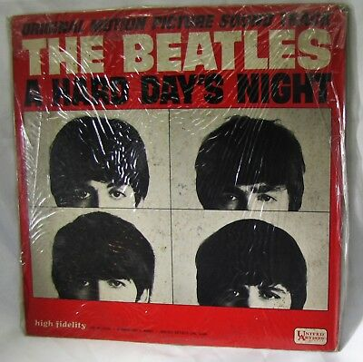 The Beatles Hard Days Night Mono 3366 Motion Picture Soundtrack LP united artist