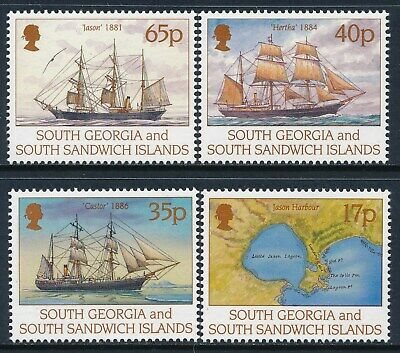 1994 SOUTH GEORGIA CENTENARY OF LARSEN'S 1st VOYAGE SET OF 4 FINE MINT MNH