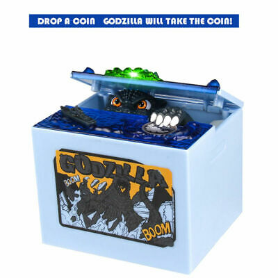 Electronic Automatic Stealing Coin Godzilla Box Coin Bank Money Box Piggy Toy