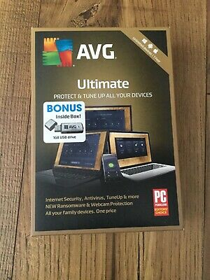 AVG Ultimate 2019, Unlimited Devices 1 Year + 1GB USB Flash Drive