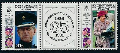 1991 South Georgia Royal Birthdays Set Of 2 Fine Mint Mnh