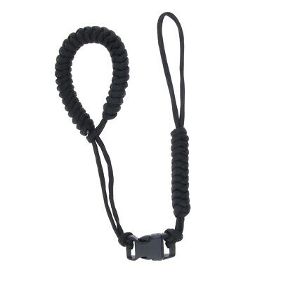Braided Paracord Adjustable Camera Wrist Strap Bracelet Travel Hiking Beach