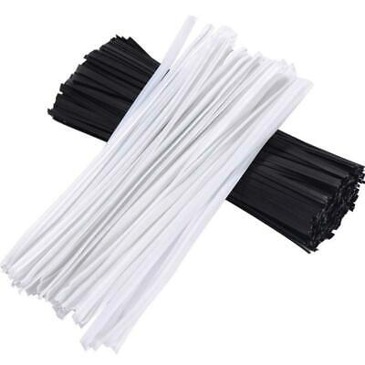 500 Pcs/Set Reusable Metallic Twist Cable Cord Wire Bread Candy Bags Twist Ties*
