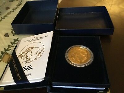 2006-W American Gold Buffalo 1 oz. 24 Proof w/ Box, Velvet Case, $ 50 coin .9999
