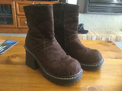 Ladies Boots NAONA, Brown Nubuk Retro, Size 8(39)