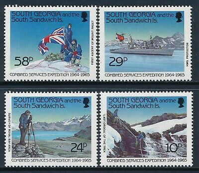 1989 South Georgia Combined Service Expedition Set Of 4 Fine Mint Mnh