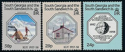 1987 South Georgia International Geophysical Year Set Of 3 Fine Mint Mnh