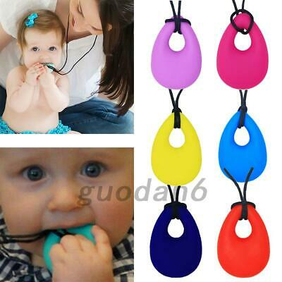 Baby Chewy Silicone Necklace Anti Autism ADHD Biting Sensory Chew Teething Toys
