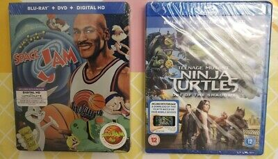 Space Jam Steelbook + Blu-ray + DVD + UV & Ninja Turtles Movie BluRay - (NEW)