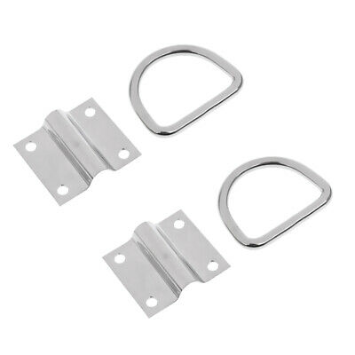 2x Tie Down Lashing Rings with Cleat Lashing Point D Ring for Trailer Boat