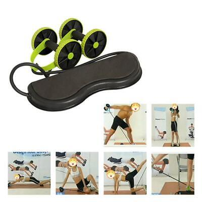 Abdominal Power Roll Trainer Waist Slimming Exerciser Core Double Fitness Wheel