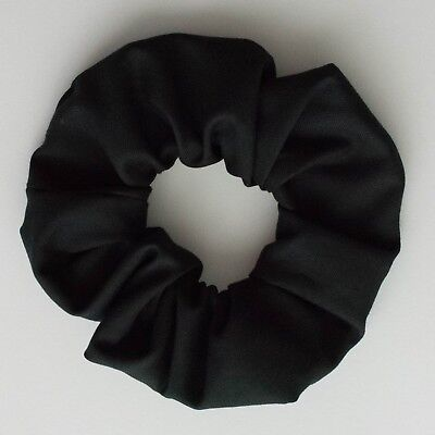 Handmade Scrunchie  Hair Tie  Ponytail Holder Black Cotton
