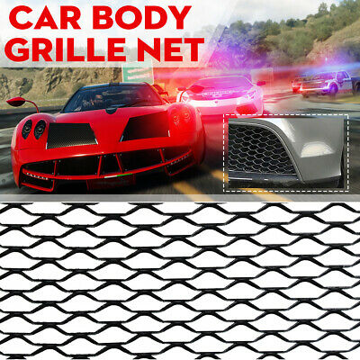 100*33cm Black Universal Aluminum Car Vehicle Body Grille Net Mesh Grill Section