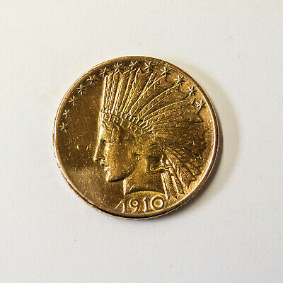 22ct gold  United States, Indian Head, $10, Eagle, 1910, U.S. Mint, Denver