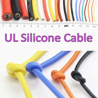 UL Silicone Flexible Cable 10/11/12/13/14/15/16/17/18/20/22/24/26/28-30AWG Wire