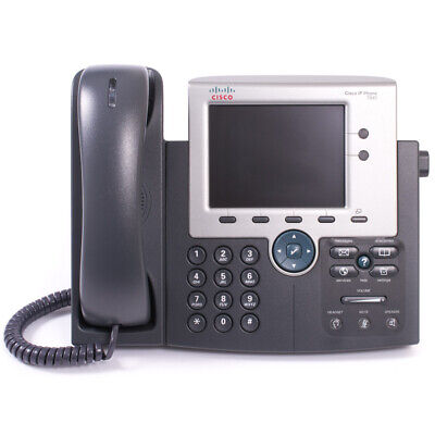Used Cisco CP-7945G 7945 Colour SCCP VoIP SIP Phone Cleaned & Tested