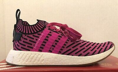 d42da53881228 Adidas Nmd R2 Primeknit Sneakers Pink Black White Mens Size 11 BY9697 Japan  New