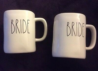NWOT Rae Dunn BRIDE BRIDE SET Coffee Tea Mugs Fast Careful Ship LGBT