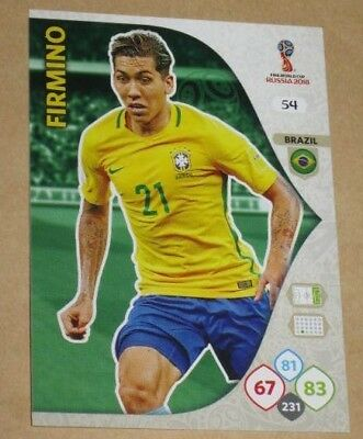 "Carte PANINI Card #54 ""Roberto FIRMINO"" Adrenalyn XL FIFA WORLD CUP RUSSIA 2018"