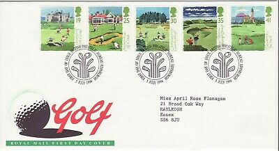 GB Stamps First Day Cover Scottish Golf Courses, bunker,flag SHS Golf Clubs 1994