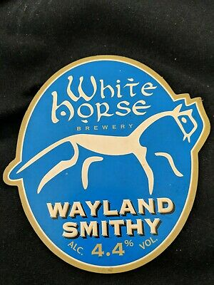 beer pump clip  - White Horse Brewery Stanford in the Vale Wayland Smithy Ale