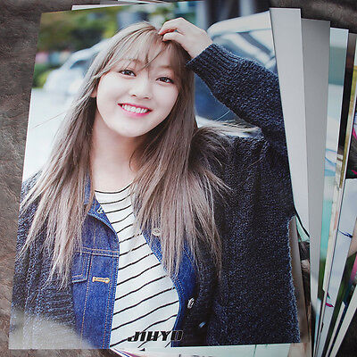 K-POP TWICE JIHYO 12cut Posters Collection Bromide (12​PCS) +  Photo Sticker