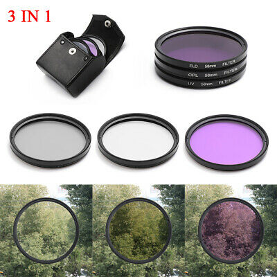 Filter Set UV+CPL+FLD Camera Lens Light Strainer For Sony Pentax Camera Lens