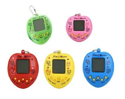 Heart Shaped Tamagochi Cyber Virtual Pet Retro Toy 168 in 1 Yellow Green Red BL