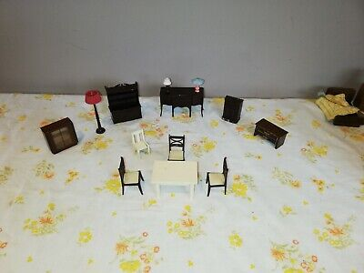 Vintage dolls house furniture - box full - job lot