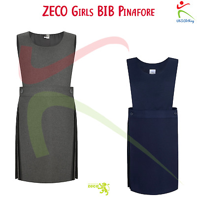 ZECO Girls Sleeveless Dress Bib Pinafore Polyester Overall School Uniform Wear