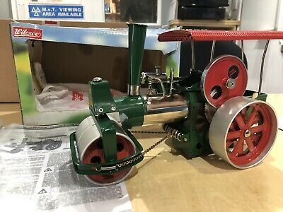 Live Steam Wilesco D365 Roller Traction Engine Model Green