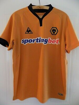 Original 2009 Wolverhampton Wanderers Soccer Football Jersey Shirt Wolves Large
