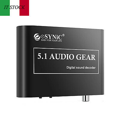 5.1DAC Decodificatore analogico digitale audio/Convertitore Supporta DTS AC3 R/L
