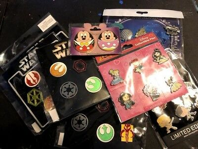 Disney TRADING PINS! 12 Pin Lot - Brand New Booster Sets