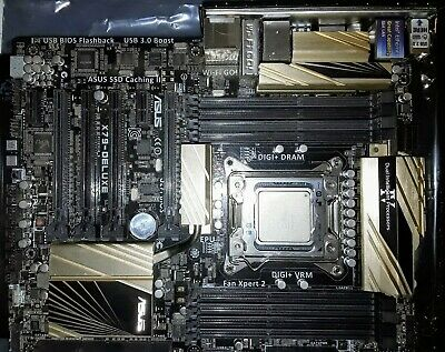 ASUS X79-DELUXE, LGA 2011 Motherboard + HexCore i7 4930K 12MB 3.9GHz CPU
