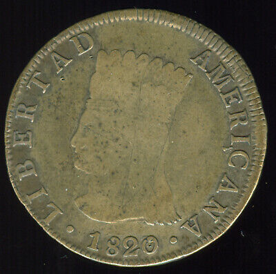 1820/19 Jf Republic Of Colombia 8 Reales