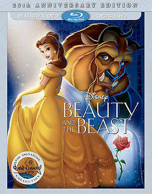 Beauty and the Beast (Blu-ray/DVD, 2016, 2-Disc Set, 25th Anniversary Edition In