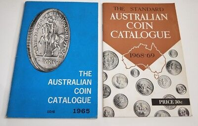Pair of Australian Coin Catalogue booklets : 1965 and 1968-69